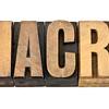 macro word in wood type