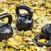 iron  kettlebells outdoors