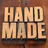 handmade in letterpress type