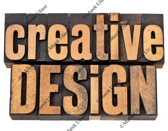 creative design in wood type