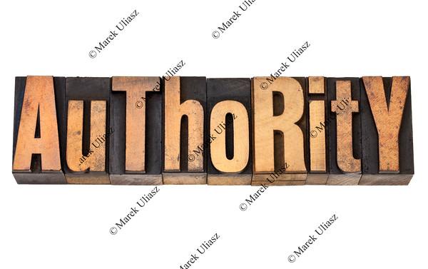 authority in letterpress type