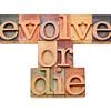 evolve or die -  evolution  concept