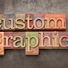 custom graphics in wood type