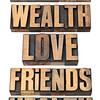 life values list in wood type