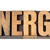 energy word in wood type