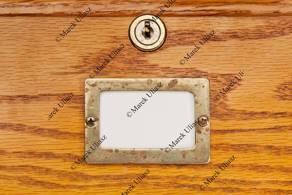 blank label of file cabinet drawer