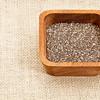 chia seeds in wood bowl
