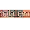 problem question in letterpress type