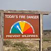 fire danger roadside sign in Colorado