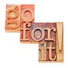 go for it - motivation concept