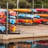 kayaks on a dock