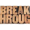 breakthrough word in wood type