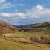 springtime in mountain valley