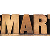 smart word in wood type