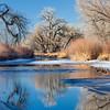 winter river in Colorado