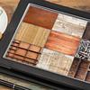 wood texture on digital tablet