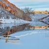winter canoe paddling