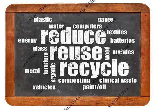 reduce, reuse, recycle word cloud