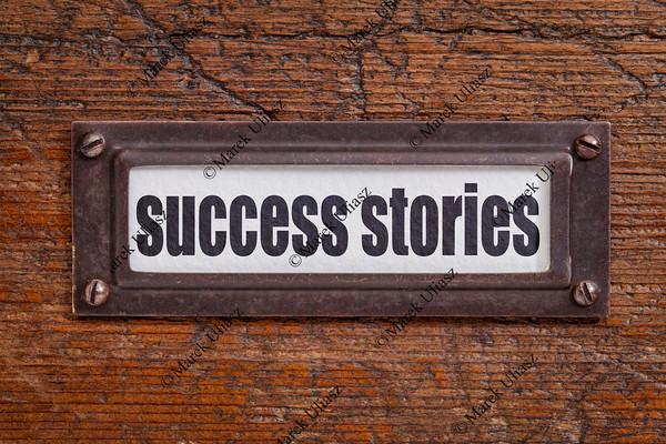 success stories label