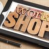workshop word on digital tablet