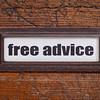 free advice - file cabinet label