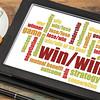 win-win strategy word cloud