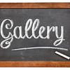 gallery word on blackboard