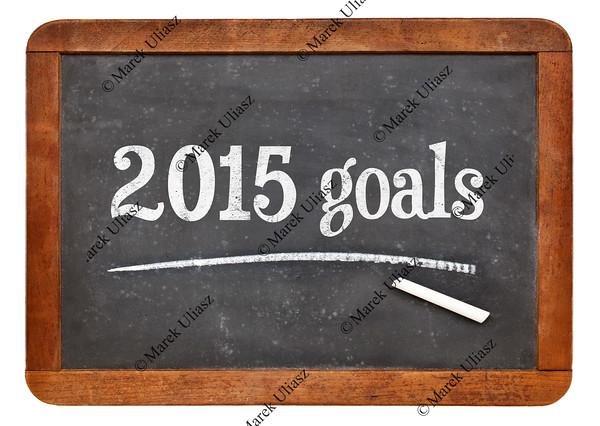 2015 goals on blackboard