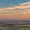 sunset over prairie