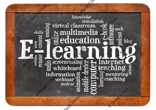 e-learning word cloud on blackboard