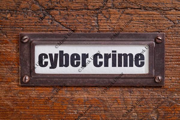 cyber crime - file cabinet label