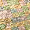 Nebraska on a vintage map