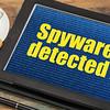 spyware alert on digital tablet