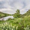 Horsetooth Reservoir in springtime