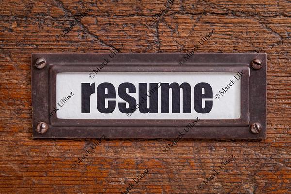 resume label