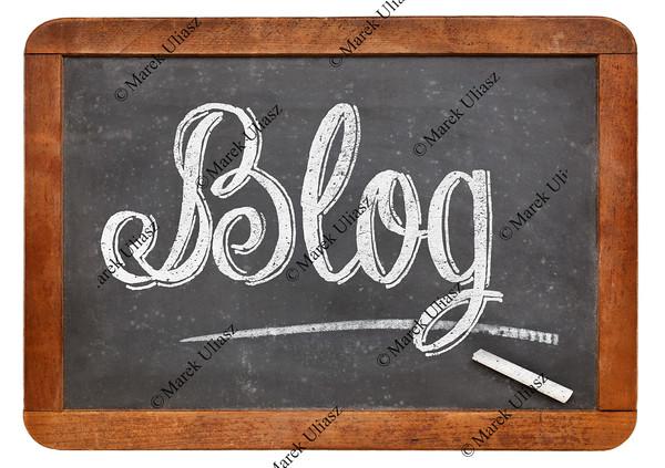 blog word on blackboard