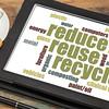 reduse, reuse, recycle word cloud