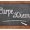 Carpe Diem on blackboard