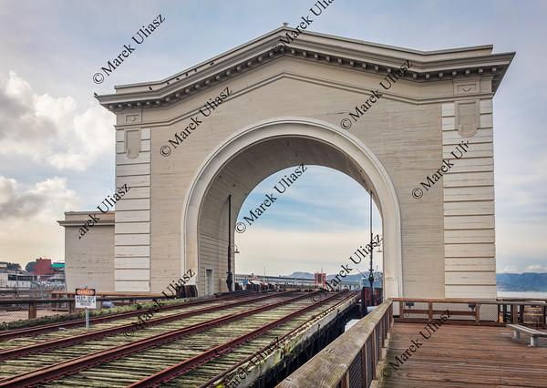 old rail ferry terminal in San Francsico
