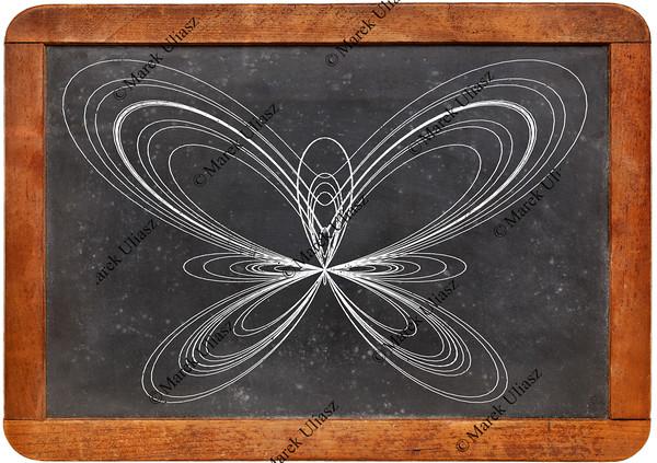 butterfly curve on blackboard