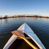 canoe bow and paddle