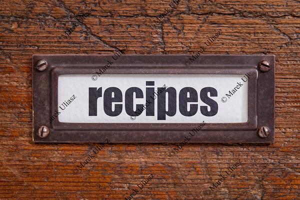 recipes  label