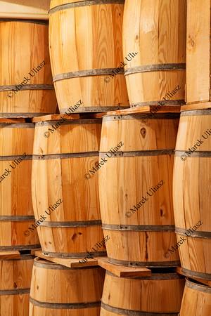 new wooden barrels