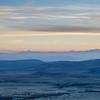 dusk over Rocky Mountains