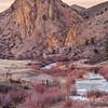 winter dusk in mountains
