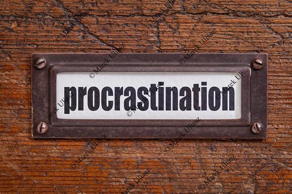 procrastination label