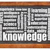 knowledge word cloud on blackboard