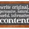 write original, useful, informative conctent