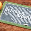 personal growth word cloud on blackboard