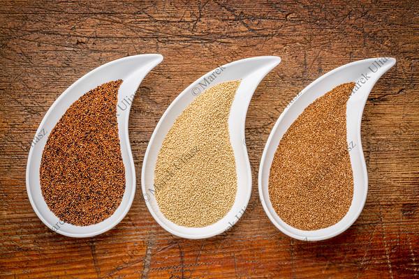 kaniwa, amaranth and teff grain